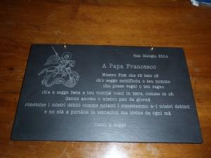 La piastrella donata a Papa Francesco il 23 Aprile 2014